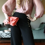 Outfit Of The Yesterday: Mauve + Coral + Gold + Black (Fancy Pants!)