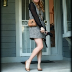 Outfit Of The Yesterday: Kirna Zabête for Target Tweed & Faux-Leather Zip-Front Dress