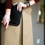 Outfit Of The Yesterday: Burgundy + Camel + Black + Mint