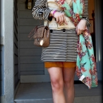 Outfit Of The Yesterday: Floral & Stripes