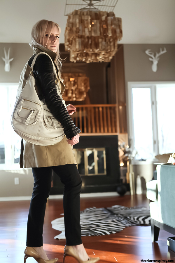 Outfit Of The Yesterday Black White Tan Linea Pelle Dylan Shoulder Bag
