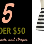 (5 Under $50) Olive, Peach, & Stripes