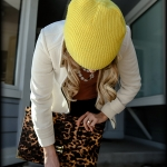 Outfit Of The Yesterday: Rose + Periwinkle + Leopard + Yellow (& The J Crew Tilda Oxford Rhinestone Top)