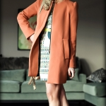 Outfit Of The Yesterday: Zara Coral Coat + The BCBGMAXAZRIA Odette Dress