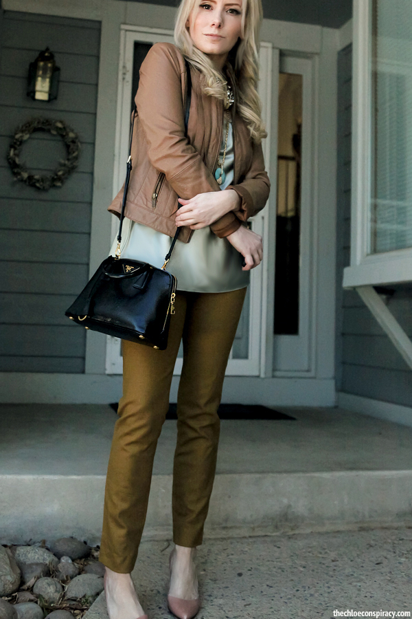 Outfit Of The Yesterday: Tan + Jade + Mustard + Pink (\u0026amp; A Review ...