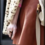 Outfit Of The Yesterday: Peach + Tan + Pink + Light Blue + Leopard (& The J Crew Colorblock Tippi Cashmere Sweater)