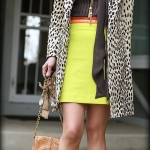 Outfit Of The Yesterday: Leopard + Graphite Gray + Coral + Neon Yellow (& Hair, Hair, Hair)