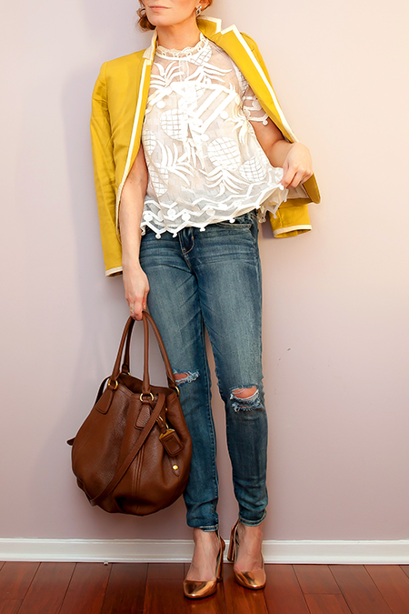 Outfit Of The Yesterday: The Anthropologie Pina Lace Top by HD in Paris + Prada Daino Satchel - t h e (c h l o e) c o n s p i r a c y : fashion + life + style