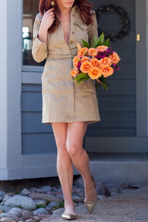 t h e (c h l o e) c o n s p i r a c y: J Crew Belted Chino Shirtdress + Panama Hat + Sloan Gold D'Orsay Loafers #ootd #springstyle