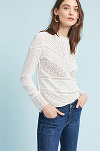 Anthropologie Burnham Lace Top